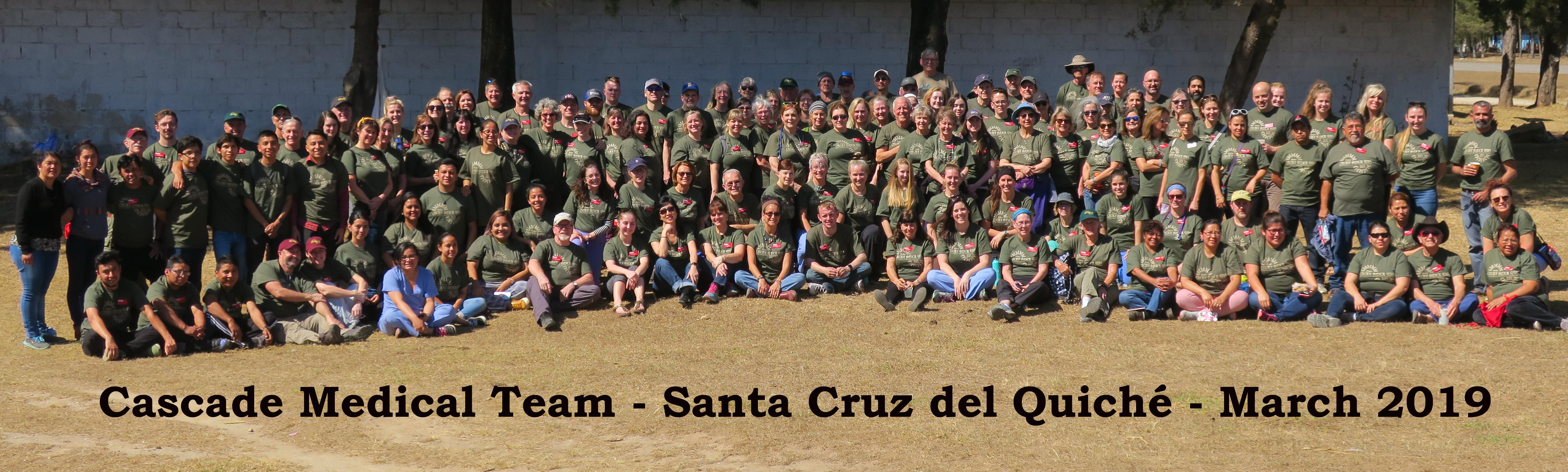 Cascade Medical Team, March 2019 group photo